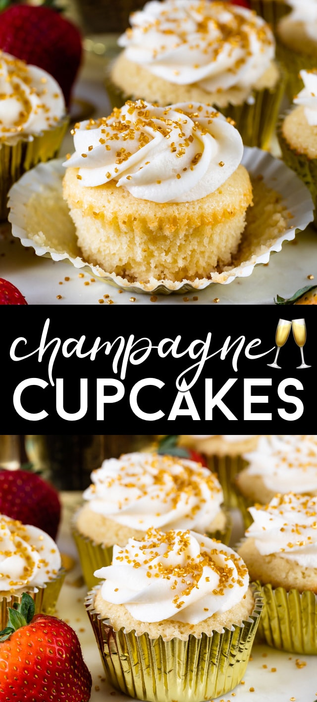 champagne cupcakes collage