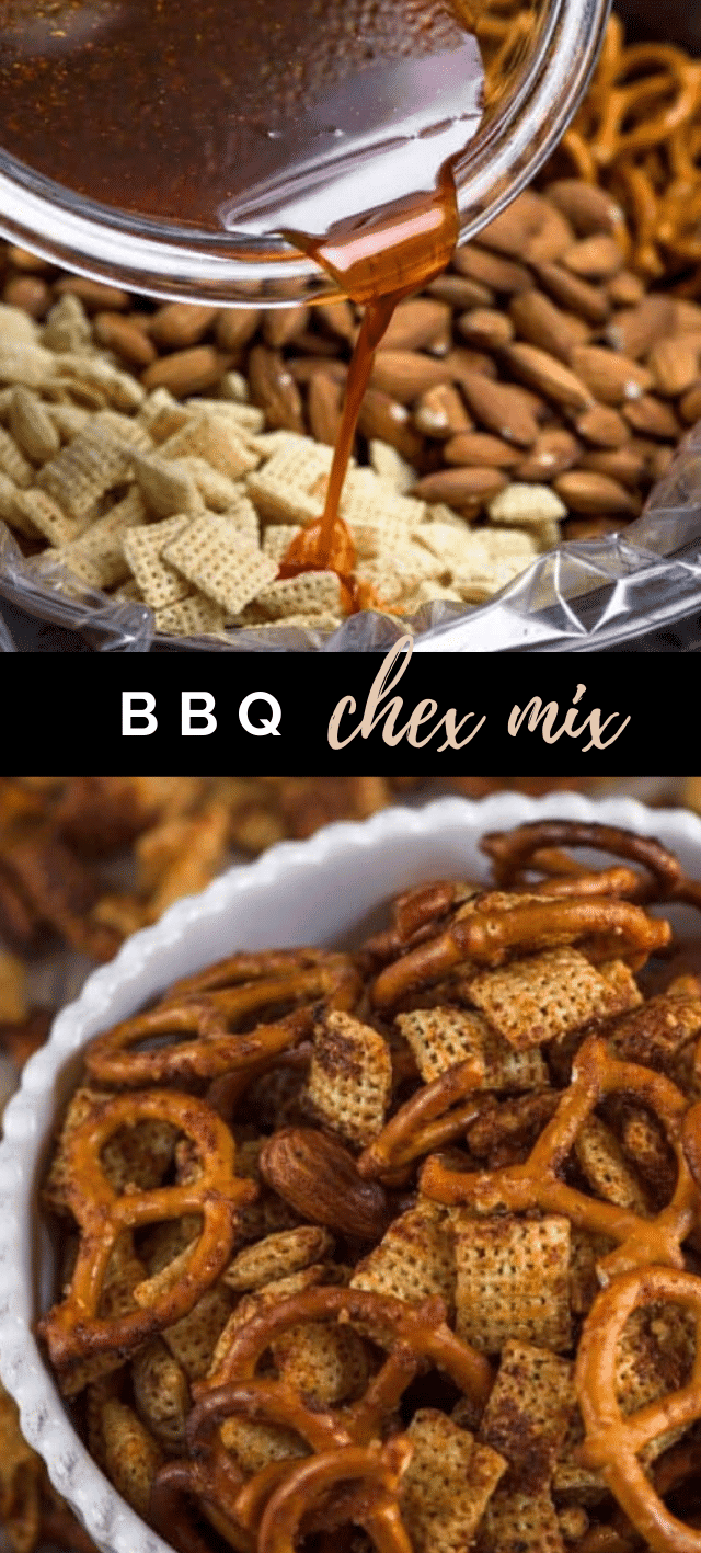 collage of Chex mix photos