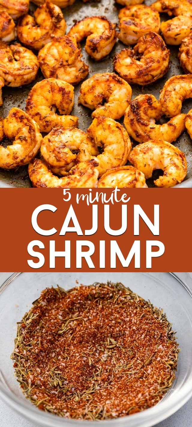 Homemade cajun shrimp