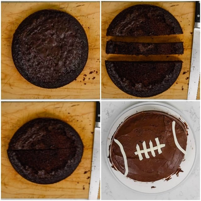 Football cake process