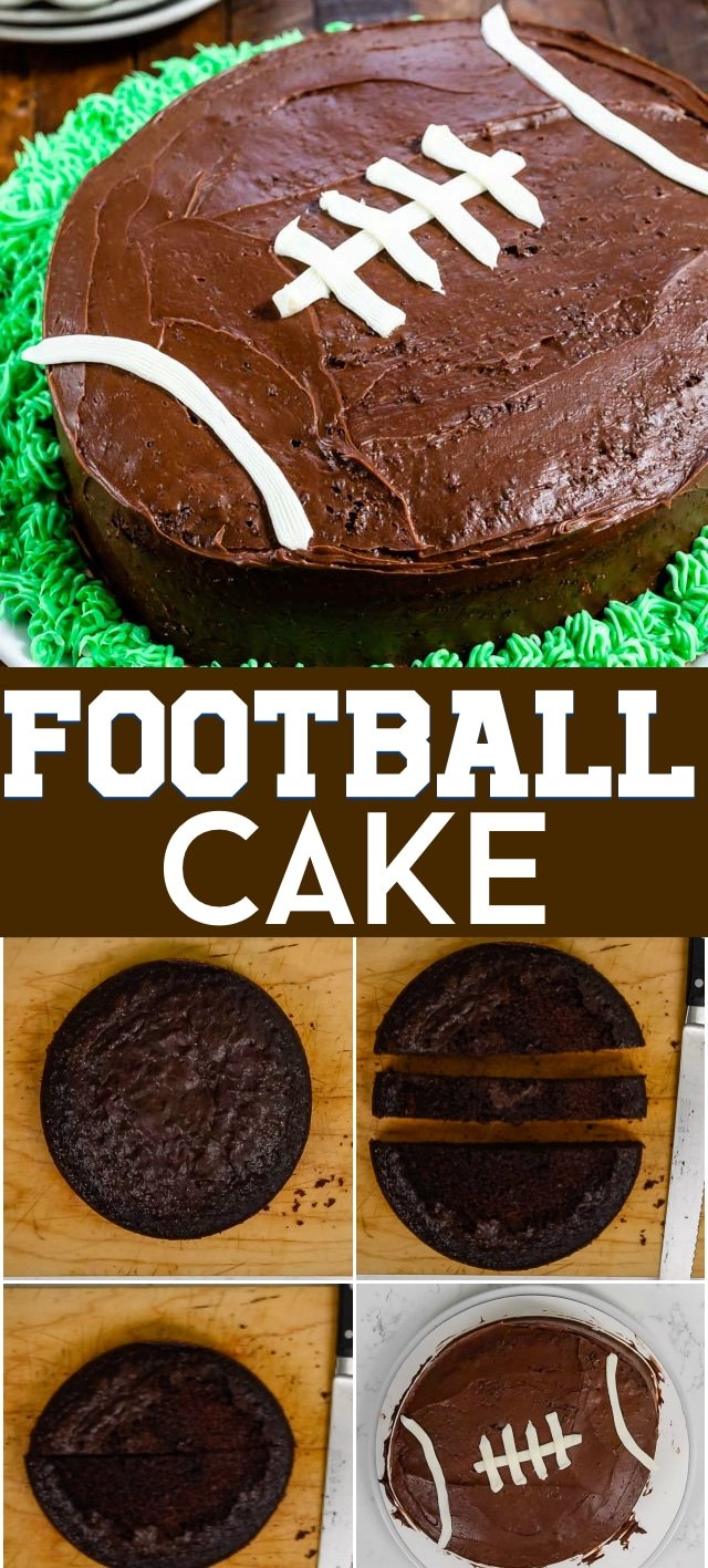 Football cake how-to