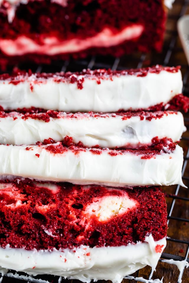 Red velvet cheesecake loaf cake