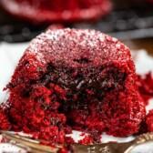 Lava cupcakes