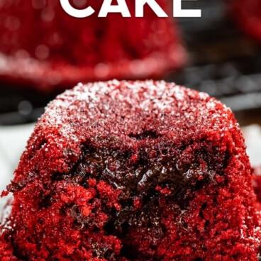 Red velvet lava cupcakes