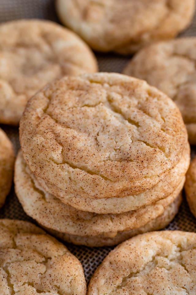 stack of snickerdoodles cookies