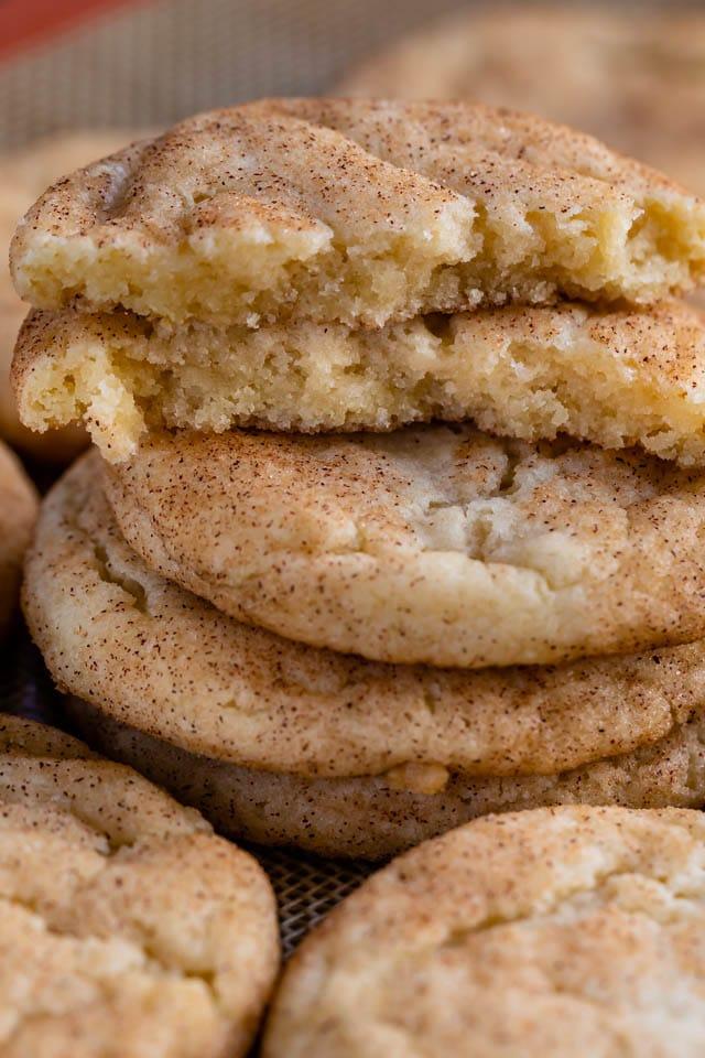 inside of snickerdoodle cookies