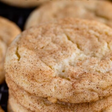 stack of snickerdoodles