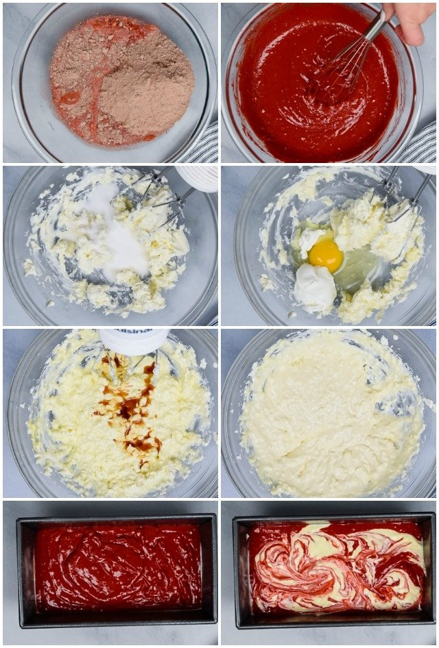 Cheesecake loaf step by step