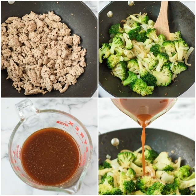 Ground turkey stir fry step by step