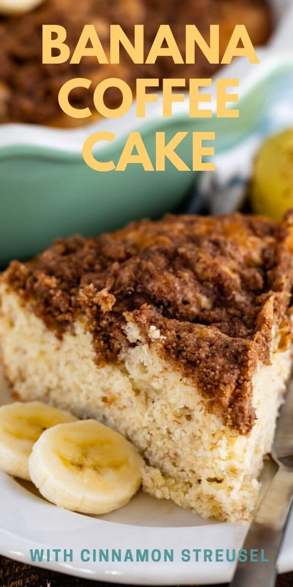 slice of banana coffee cake