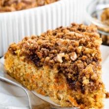 Easy carrot cake coffee cake