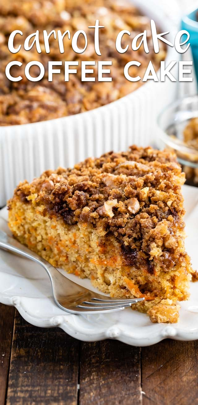 Easy carrot cake coffee cake