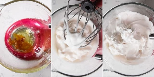 Meringue topping step by step