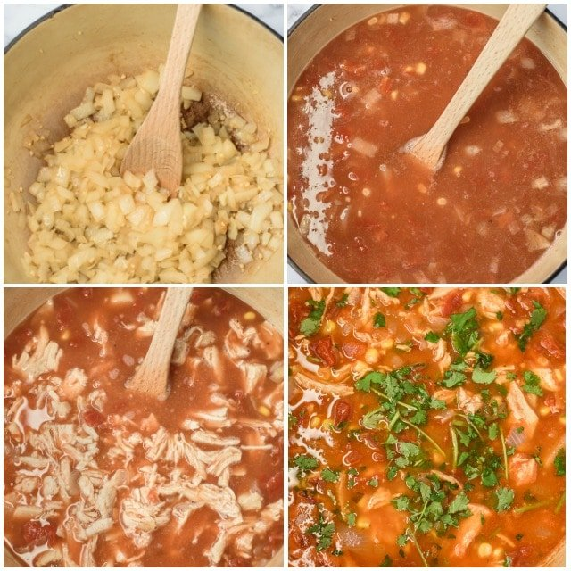 Mexican soup step by step