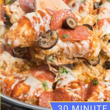 pizza chicken in pan