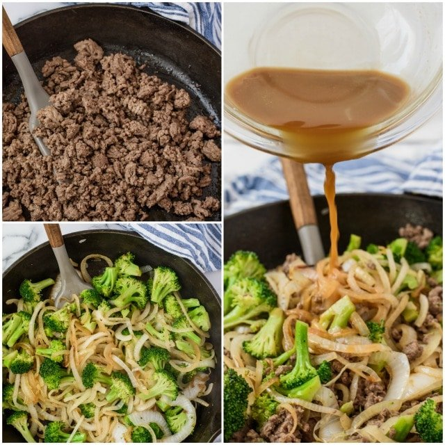 Beef broccoli step by step