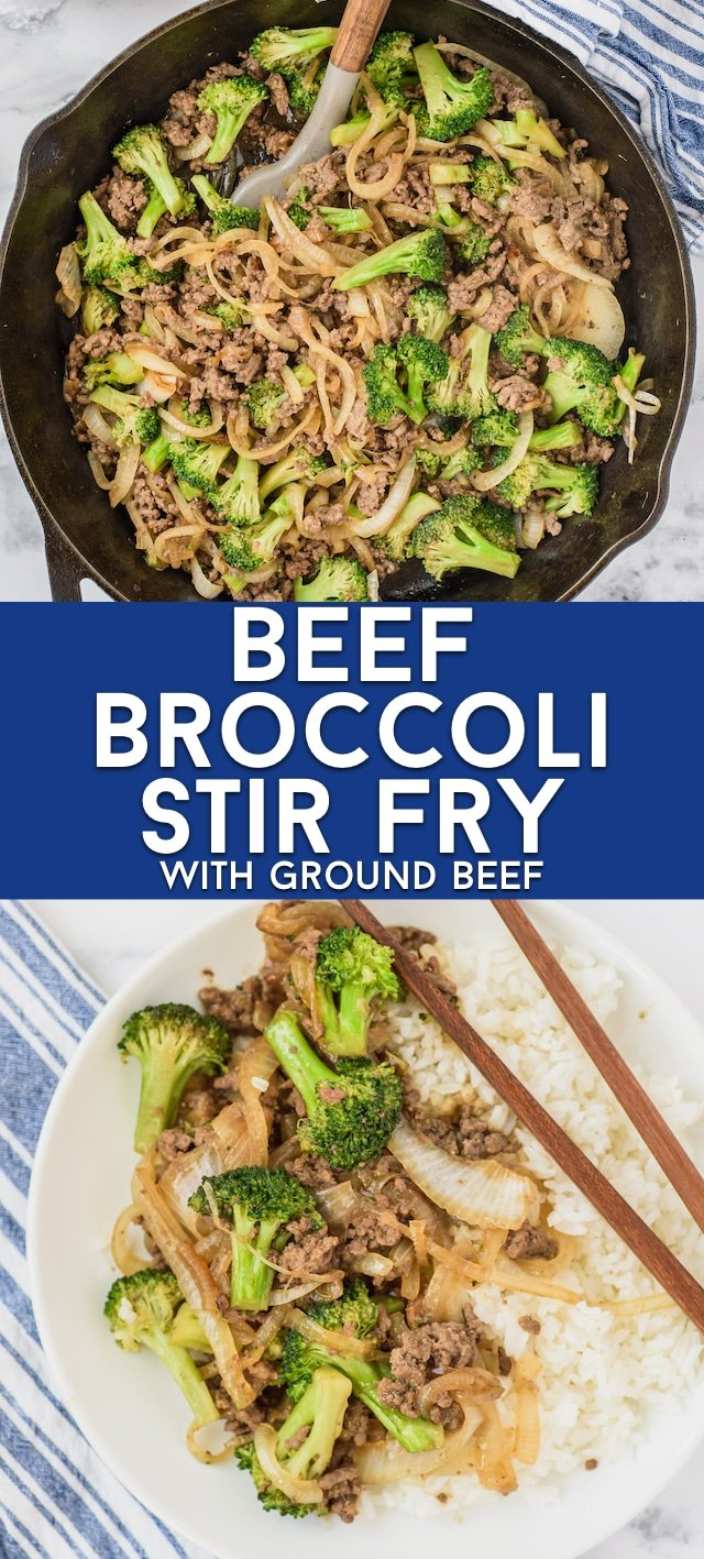 Beef broccoli collage