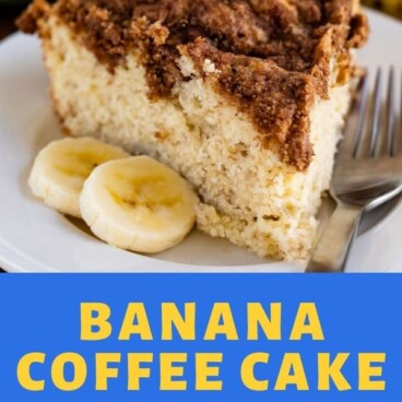 banana coffee cake collage