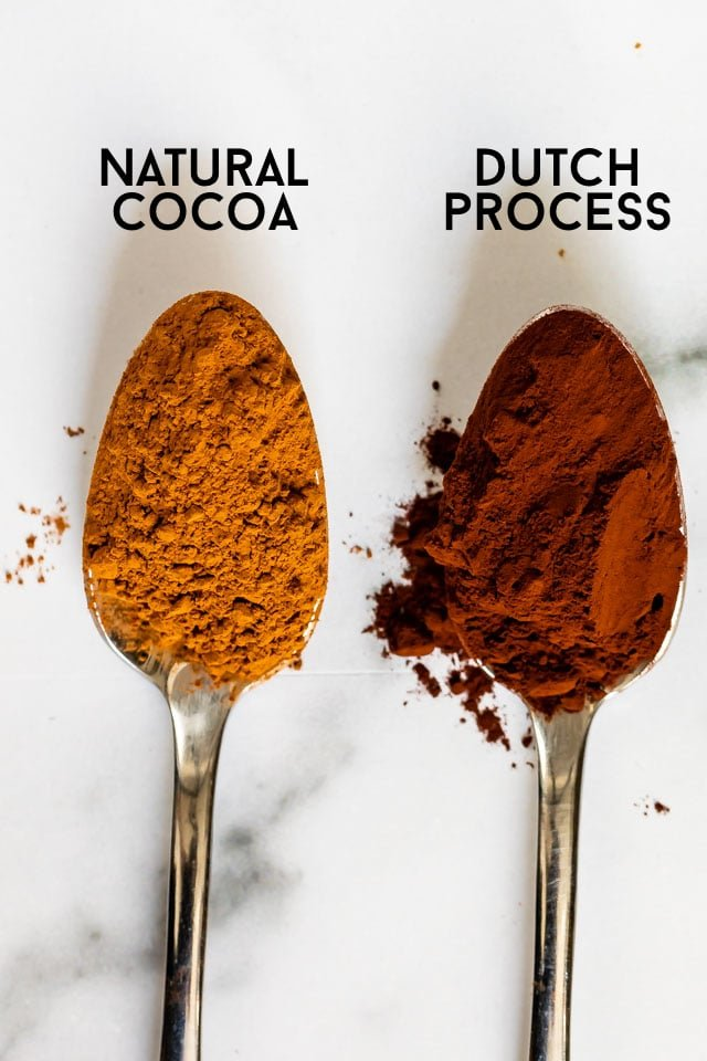 spoons of cocoa powder