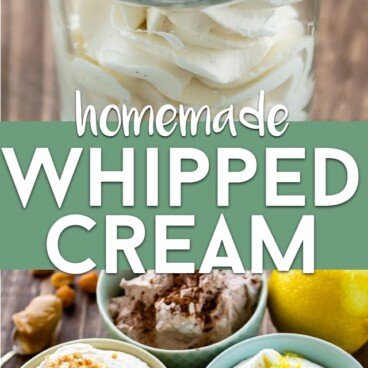 whipped cream recipe collage photo