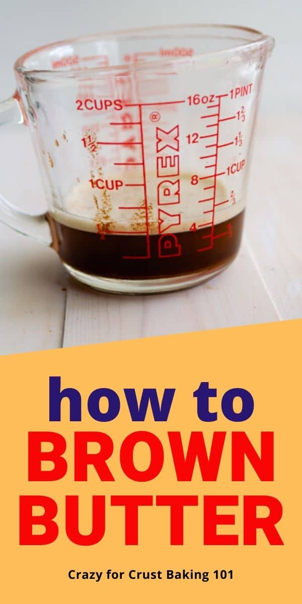 measuring cup with brown butter