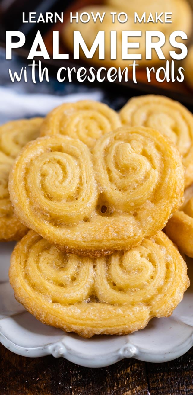 Regular palmier cookies