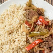 Pepper steak with rice