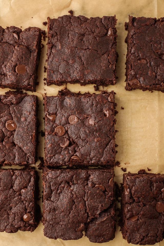 Vegan brownie squares