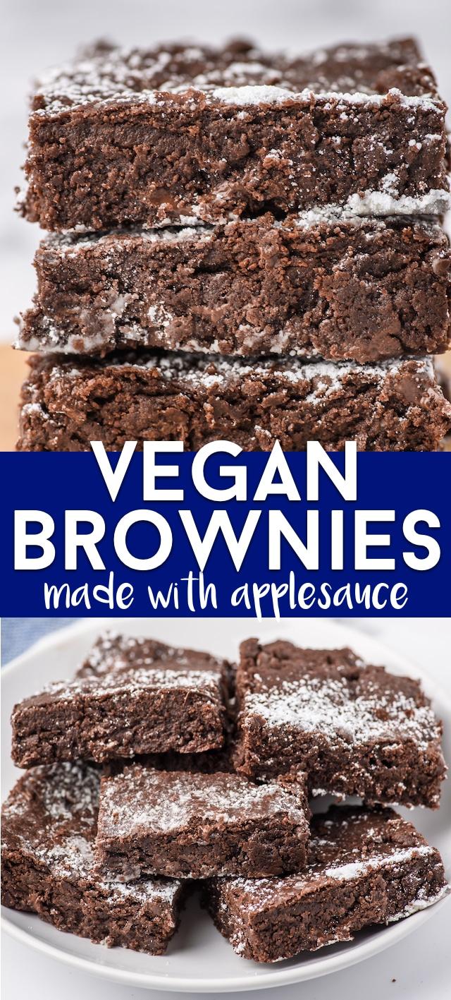 Vegan brownies collage