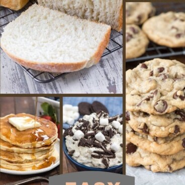 baking with kids collage
