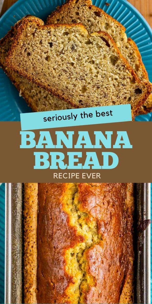 collage banana bread recipe photos