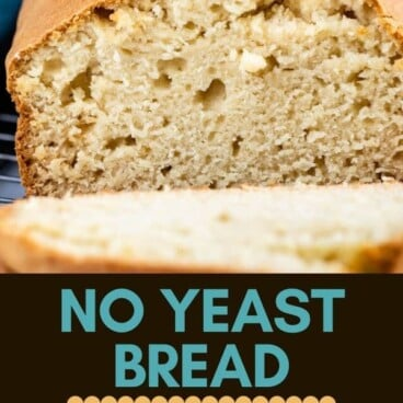 No Yeast White Bread collage photo