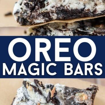 Easy Oreo magic bars