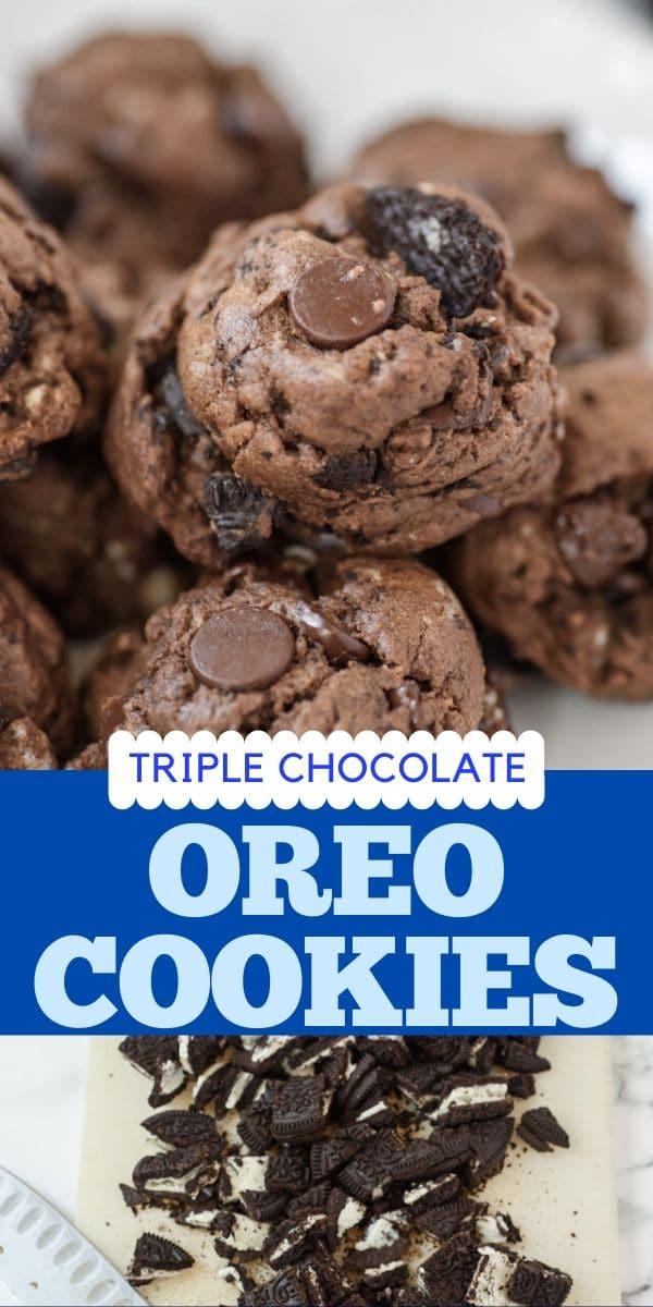 Triple chocolate Oreo cookies