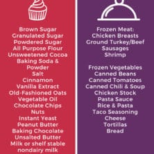 pantry essentials infographic