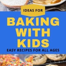 baking recipes with kids collage