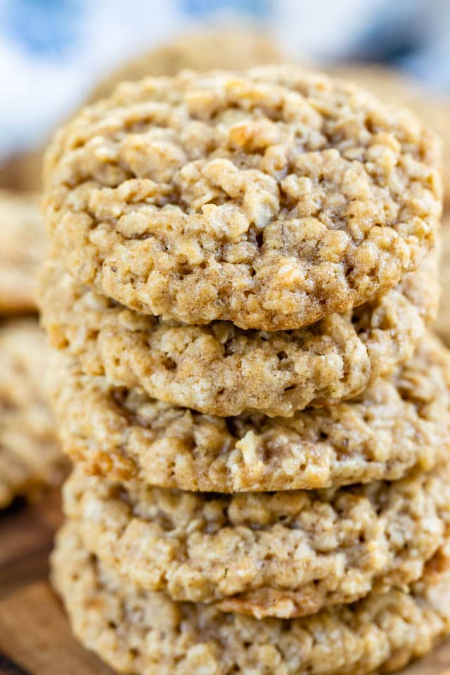 stack of oatmeal cookies