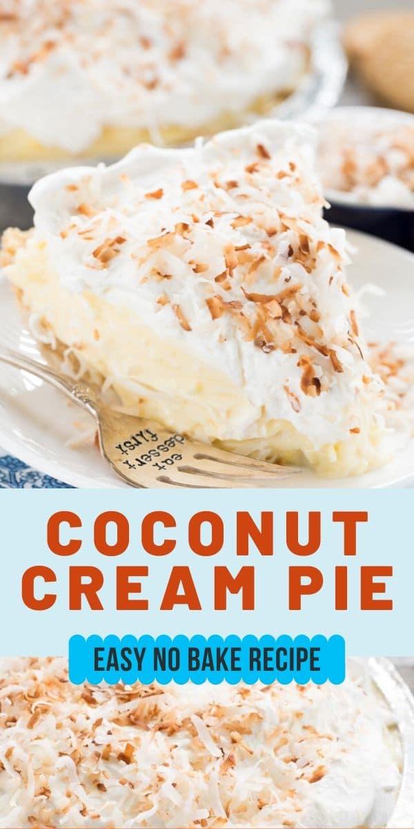 Easy no-bake coconut cream pie