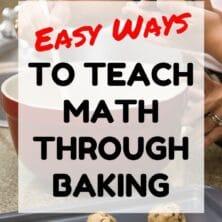 teaching math through baking graphic