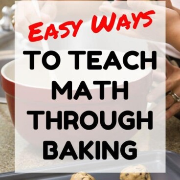 teaching math through baking graphic
