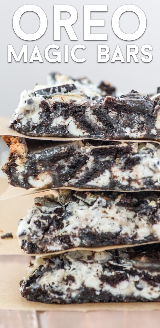 Oreo magic bars