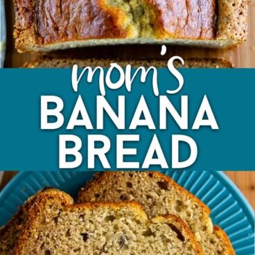 collage of banana bread recipe photos