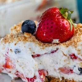 berry dessert on plate