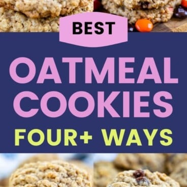 collage of oatmeal cookie photos with variations