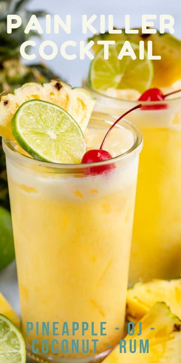 Pineapple pain killer cocktail