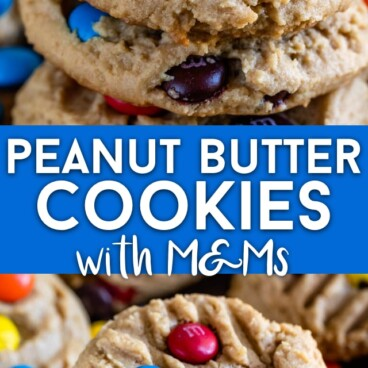 PB cookies with M&Ms