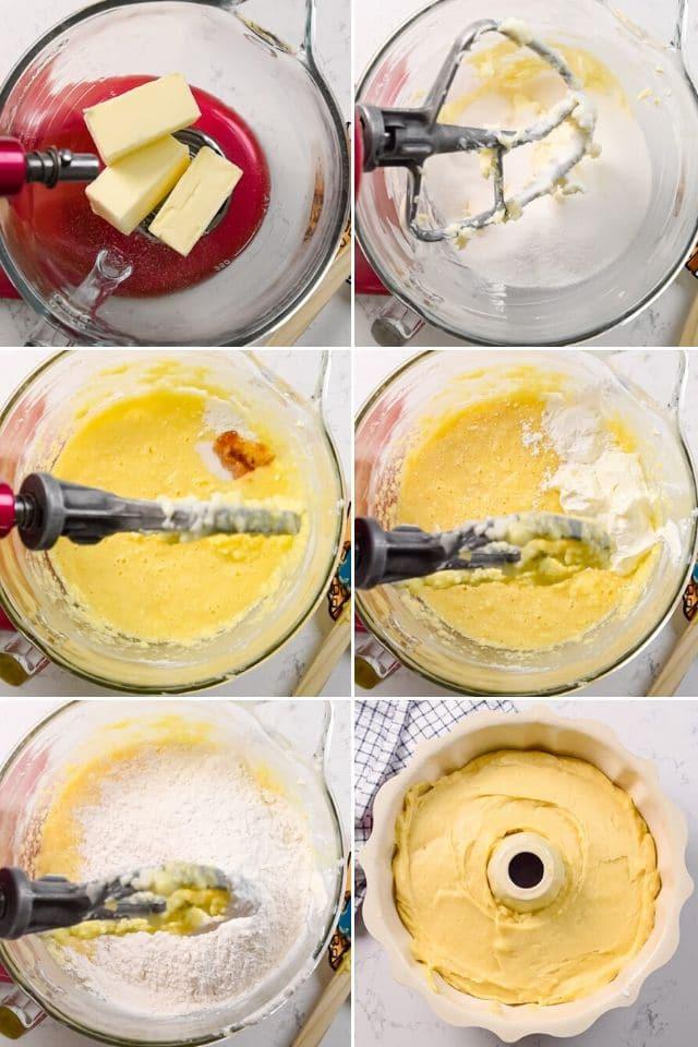 Pound cake step by step