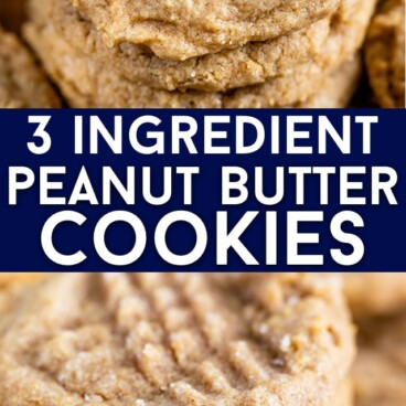 collage of peanut butter cookies photos