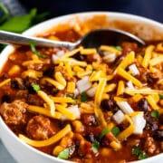 30 minute turkey chili