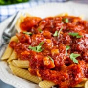 Pasta sauce with noodles